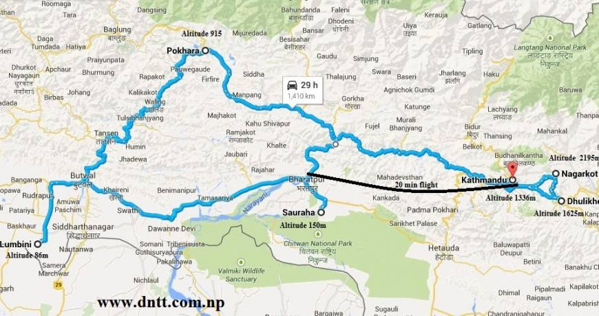 Gorkha Durbar, Ghalegaun, Pokhara, Ghandruk, Palpa, Lumbini, Sauraha Chitwan and Manakaman Temple Tour